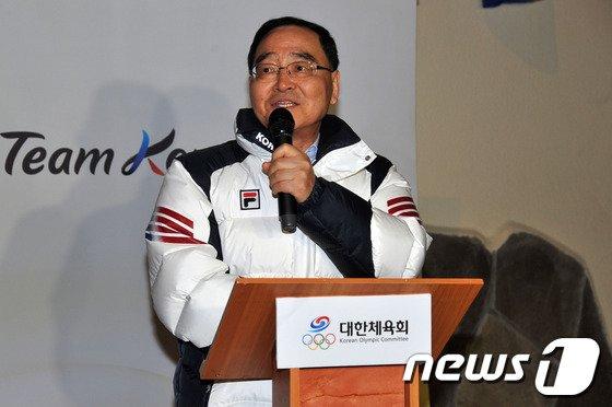 """[사진]정홍원 """"선수단이 자랑스럽습니다"""""""
