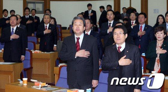 [사진]김무성 주최 '새누리당 통일경제교실'