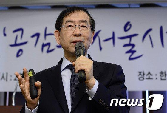 [사진]박원순 시장이 말하는 '공감 서울시'