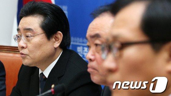민주당 전병헌 원내대표 2014.2.20/뉴스1 © News1 오대일 기자