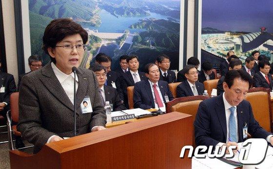 [사진]최연혜 '국토위 업무보고'