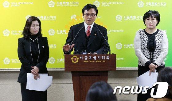 [사진]최명복 서울시의원, '친환경유통센터 특혜 제공' 의혹 제기