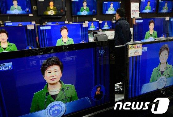[사진]朴대통령, 취임 1주년 대국민담화 발표
