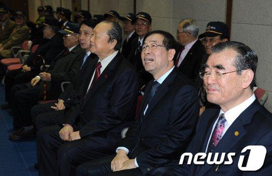 [사진]박원순 시장, 환경봉사대 발대식 참석
