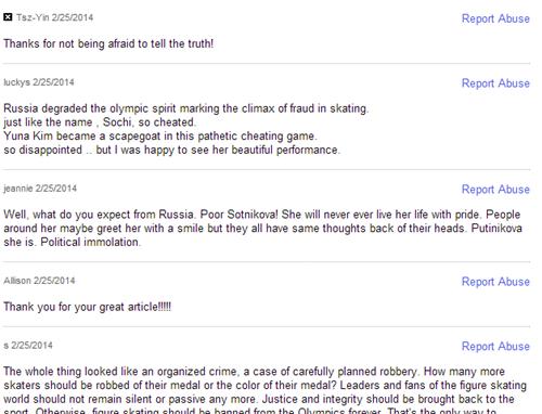 헬름스 기사의 댓글을 통해 러시아 당국을 비난한 현지 누리꾼들 /사진=야후스포츠 캡처<br /> <br />