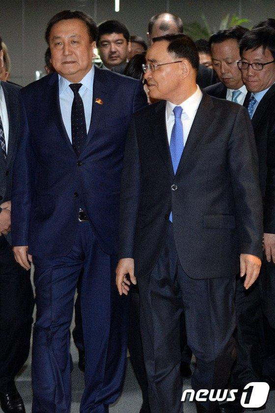[사진]국무총리실 방문한 아실벡 제엔베코프 키르키즈공화국 국회의장