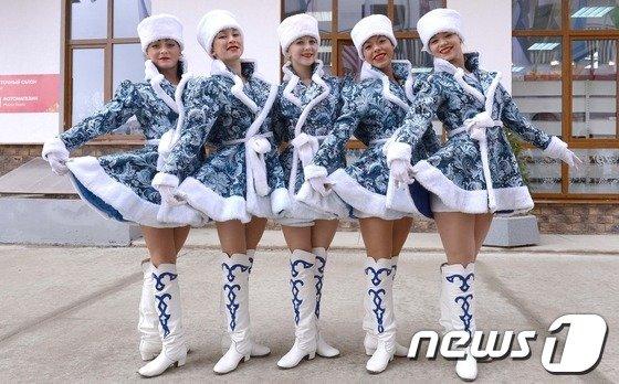 [사진]선수촌의 러시아 미녀들