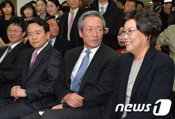 [사진]이혜훈 선거캠프 개소식 참석한 정몽준-남경필
