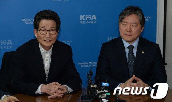 [사진]의협 회장 만난 야당 보건복지위원