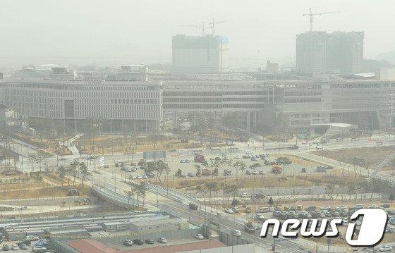 [사진]흐릿하게 보이는 정부세종청사