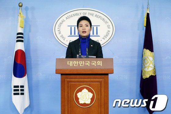 한정애 민주당 대변인. 2014.1.21/뉴스1 © News1 송원영 기자