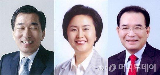 6.4 지방선거 (사진 왼쪽부터) 인천시장 예비후보로 나선 안상수 전 인천시장과 김영선 전 의원, 배영식 전 의원. / 사진=중앙선관위