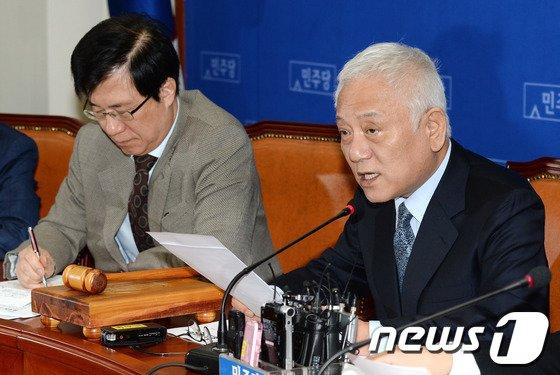 """[사진]김한길 """"좋은 규제를 없애는 것은 나쁜 일"""""""