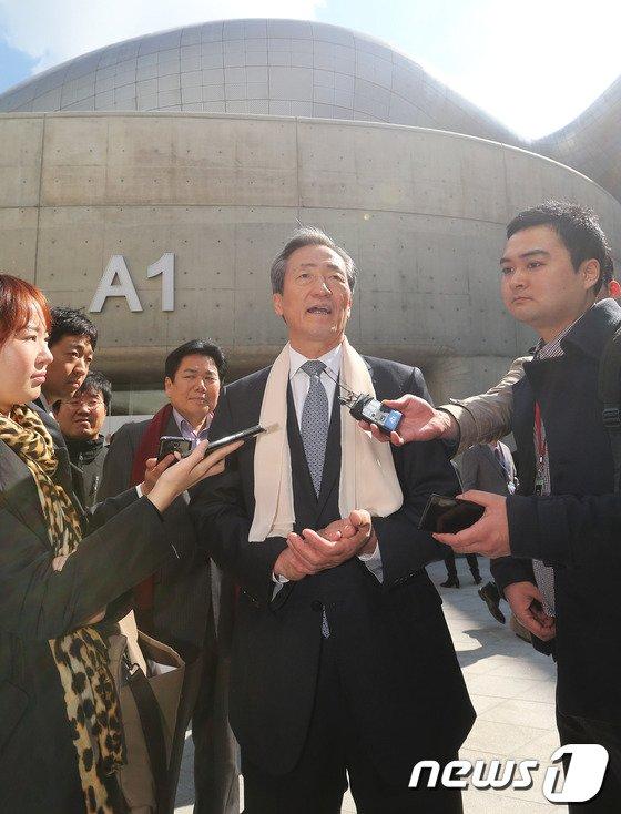[사진]정몽준 '서울의 관광 명소 생겨 기뻐요'