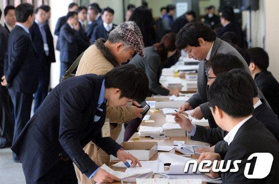 [사진]동양 관계인 집회, 회생계획안 찬반 투표 실시