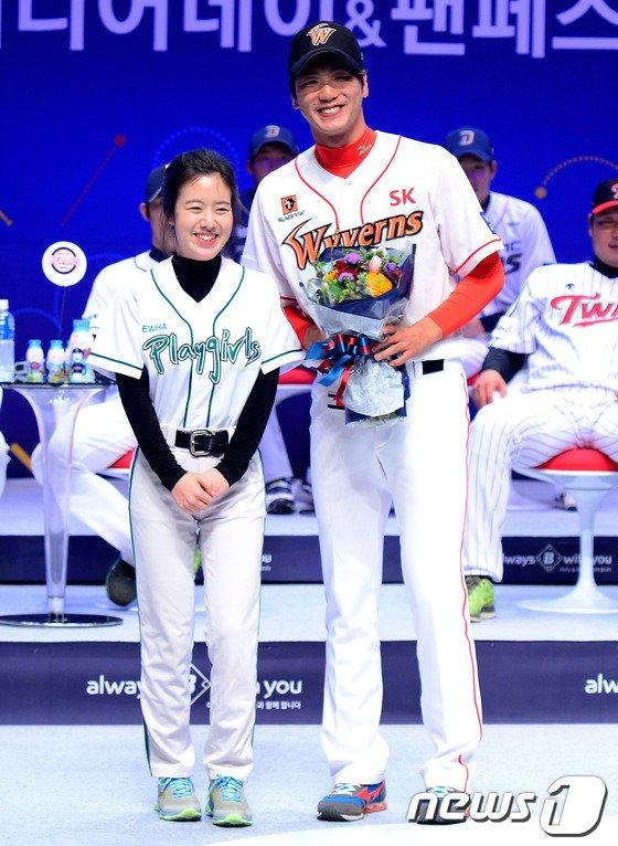 [사진]김광현, 이대생이 뽑은 인기 1위