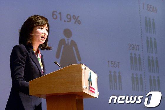 [사진]조윤선 장관, 위미노믹스 컨퍼런스 기조연설