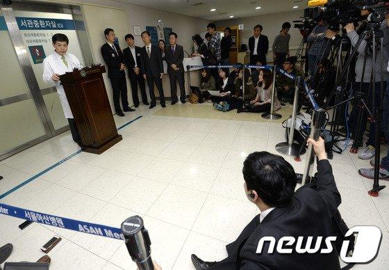 [사진]'자살기도' 국정원 권 과장, 의식 되찾아