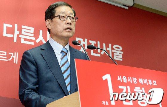 [사진]김황식 예비후보, 경선 활동 복귀 기자회견