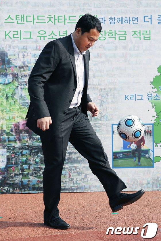 [사진]스탠다드차타드은행, K-리그 유소년에 500만원 기부