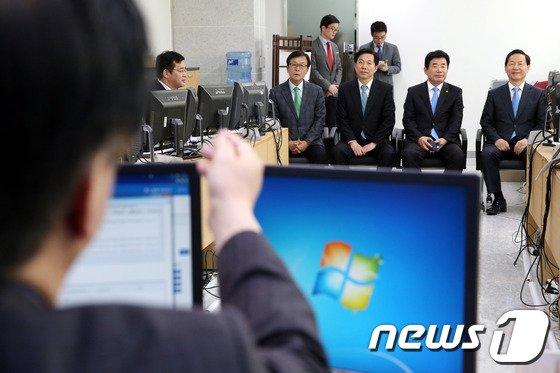 [사진]새정치민주연합, 광역단체장 공직후보신청자 면접 실시