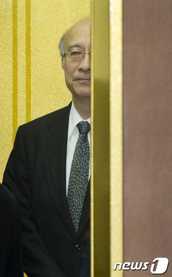 [사진]벳쇼 고로 日 대사, 외교부 초치