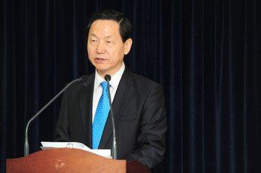 경기도지사 출마 선언 한 새정치민주연합 김상곤 예비후보. 2014.4.2./뉴스1 © News1 이성래 기자