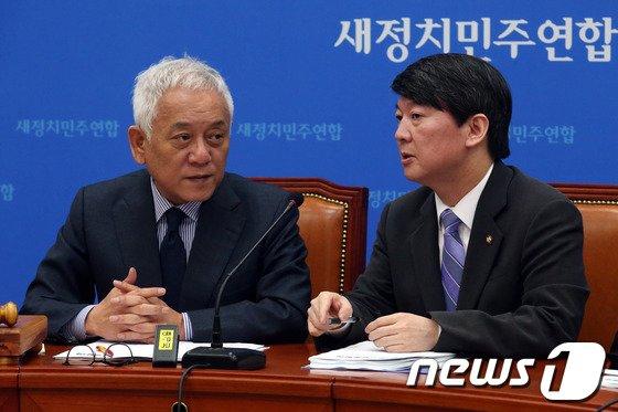 [사진]김한길-안철수 '朴대통령, 회담 제안 답변 오늘까지인데'