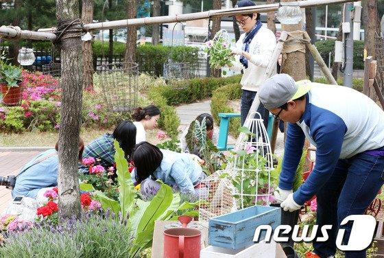 [사진]세종문화회관, '초록초록 소소정원' 조성