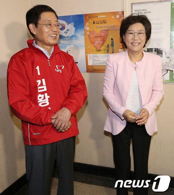 [사진]'정몽준 텃밭' 찾은 김황식-이혜훈