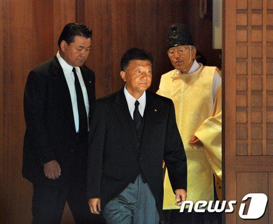 신도 요시타카 일본 총무대신.©AFP=News1