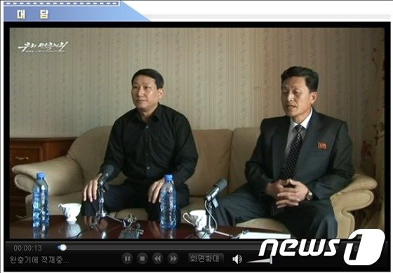 북한은 15일 '우리민족끼리'를 통해 억류중인 선교사 김정욱씨의 인터뷰를 공개했다.(사진 : 우리민족끼리TV 캡쳐) © News1   서재준 기자