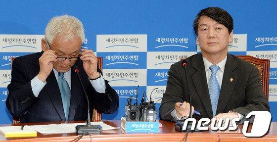 [사진]안경쓰는 김한길 공동대표