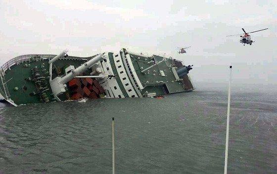 진도 여객선 침몰 당시 모습 /사진=서해지방해양경찰청 제공