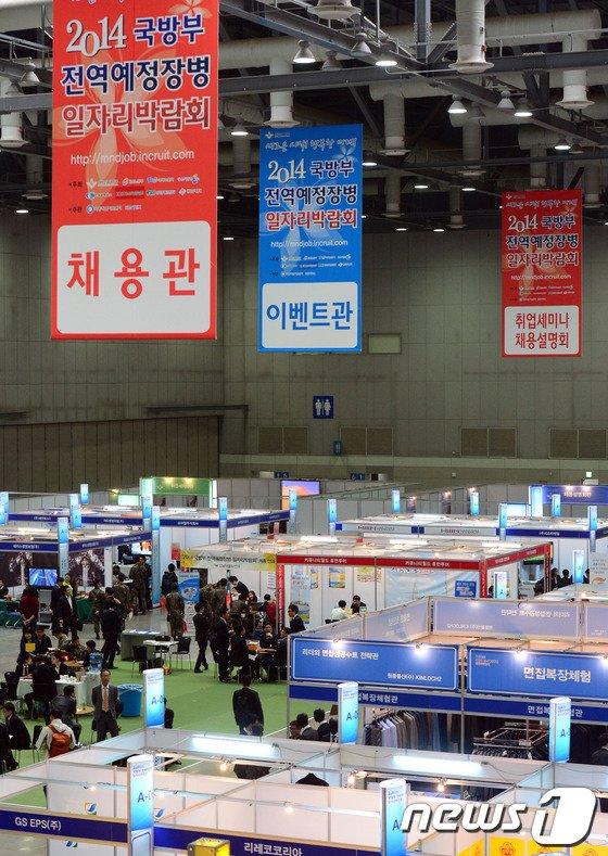 [사진]2014 국방부 전역예정 장병 취업 박람회