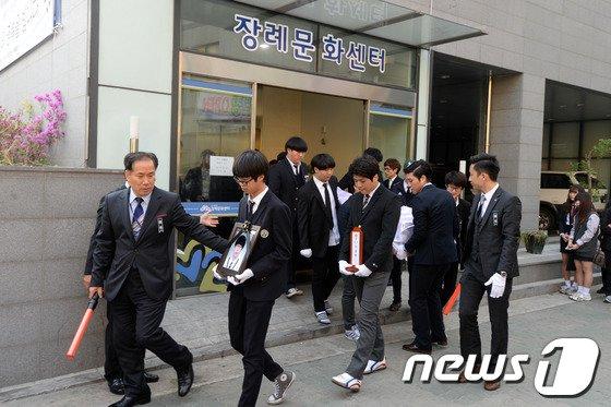 [사진][세월호 침몰] 단원고 학생의 마지막 길
