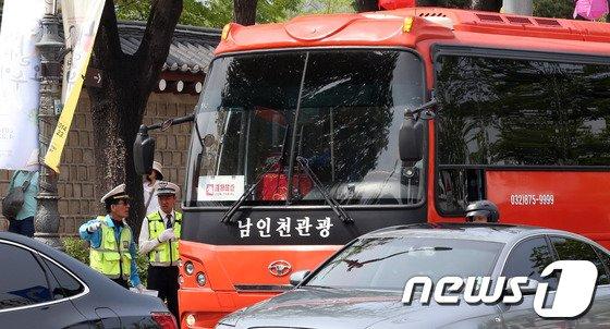 [사진]서울시, 관광버스 주변 주차장 유도로 교통난 해소