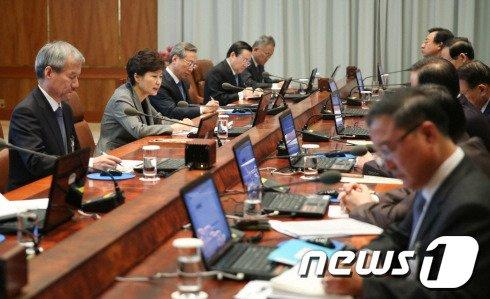 [사진]대통령주재 수석비서관회의 열려