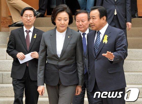 [사진]여야 원내대표 첫 공식회동