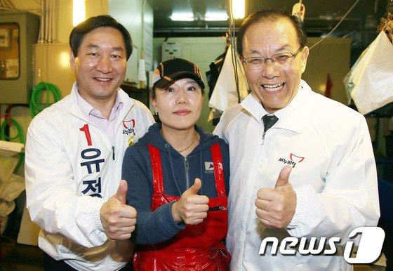 [사진]유정복·황우여 '인천 인심 최고'