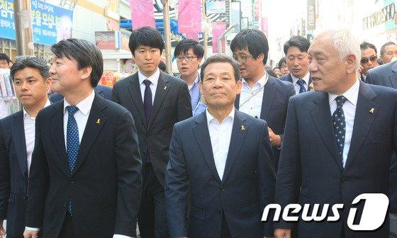[사진]5월 광주 찾은 김한길-안철수