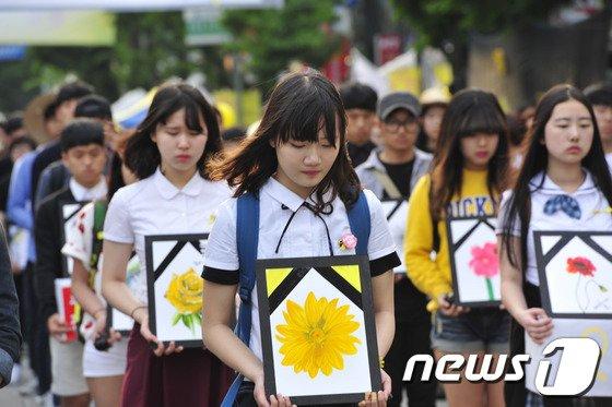 [사진]5월 광주 '세월호 친구들을 생각하며'
