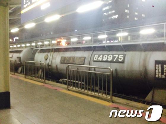 [사진]노량진역 화물열차에 올라간 20대 남성 감전사