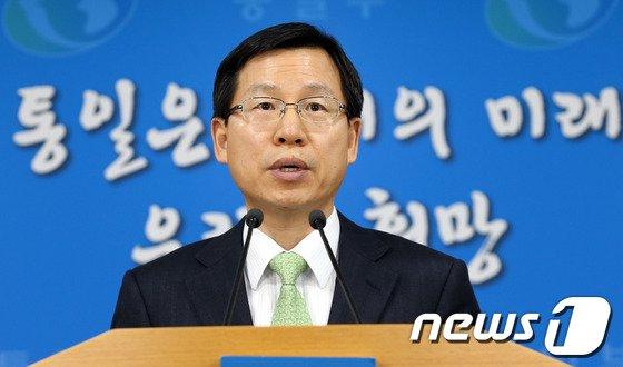 김의도 통일부 대변인 2014.3.7/뉴스1 © News1   허경 기자