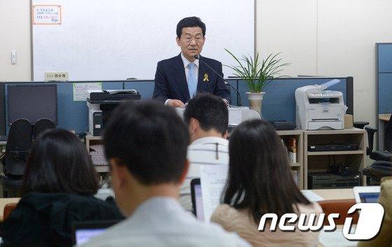 고승덕 서울시교육감 후보. / 뉴스1 © News1 민경석 기자