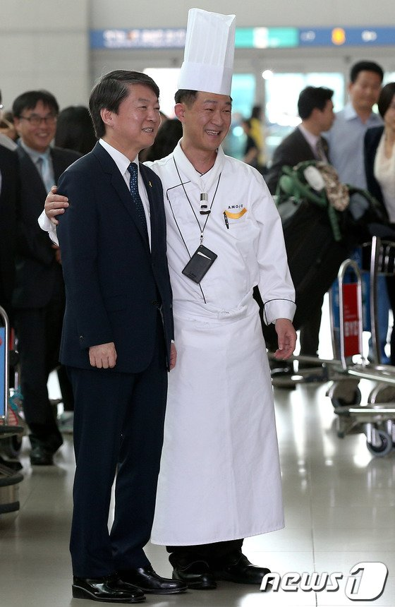 [사진]안철수 대표, 셰프와 함께~