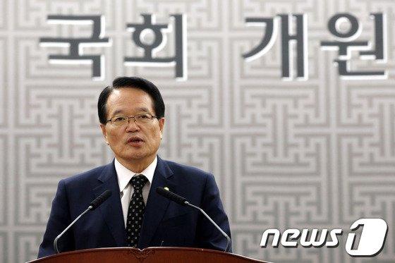 [사진]정의화 국회의장, 국회 개원 기념식 기념사