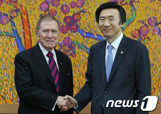 [사진]커비 전 UN COI 위원장, 尹 외교장관 예방