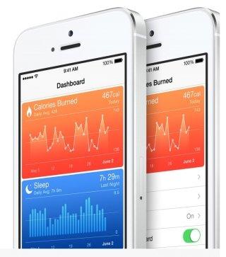 iOS8의 헬스 관련 기능 / 사진제공=애플
