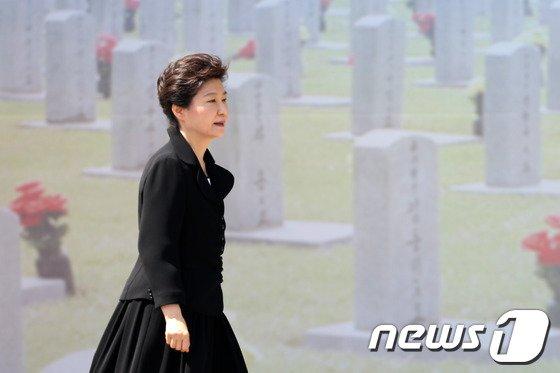 [사진]현충원 찾은 박근혜 대통령
